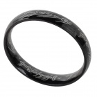 Fashionable 316L Stainless Steel Ring - Black (U.S Size 12)