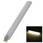 USB 2.6W 25lm 15-LED Light / Mobile Power Supply Lamp w/ Chimney - Silver + White (5V)