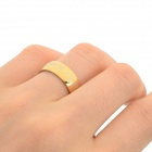 Stylish 316L Stainless Steel Ring - Golden (U.S Size 6)