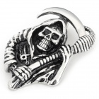 DIY Death Shaped 316L Stainless Steel Necklace Pendant for Men - Silver