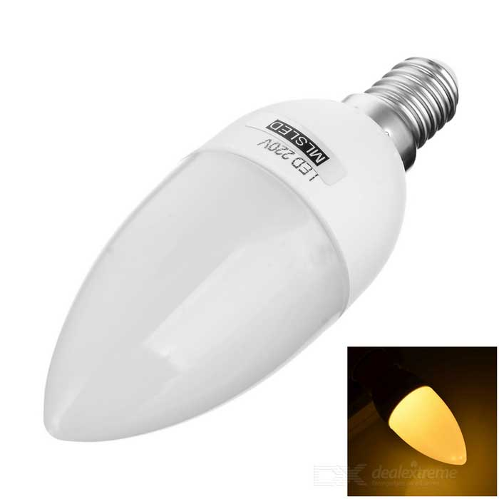 MLSLED E14 1.5W 140lm 10-SMD LED Warm White Candle Bulb (190~230V)