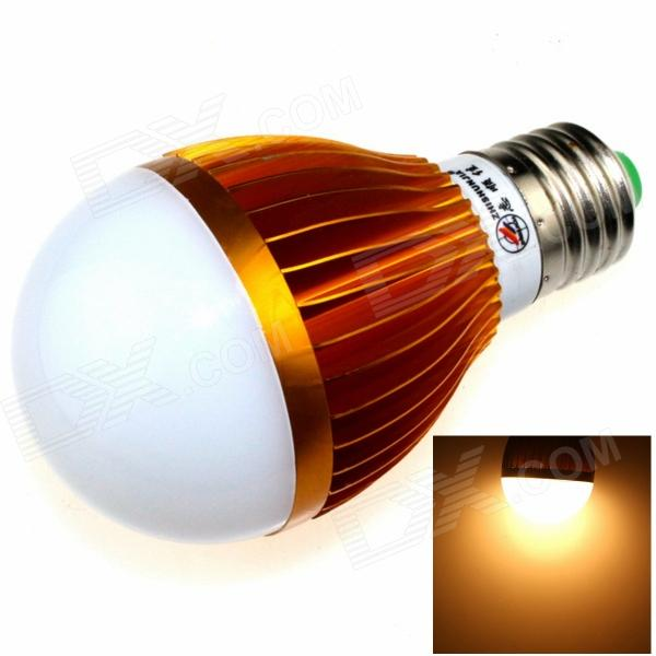 купить ZHISHUNJIA E27 12W 1000lm 3000K 24-SMD 5630 LED Warm White Light Bulb - White + Gold (AC 85~265V) онлайн
