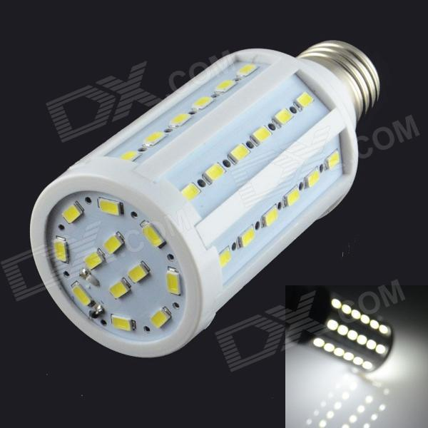 HZLED E27 12W 1300lm 6000K 60-SMD 5730 LED White Light - White (AC 85~265V) lexing lx r7s 2 5w 410lm 7000k 12 5730 smd white light project lamp beige silver ac 85 265v