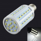 HZLED E27 12W 1300lm 6000K 60-SMD 5730 LED White Light - White (AC 85~265V)
