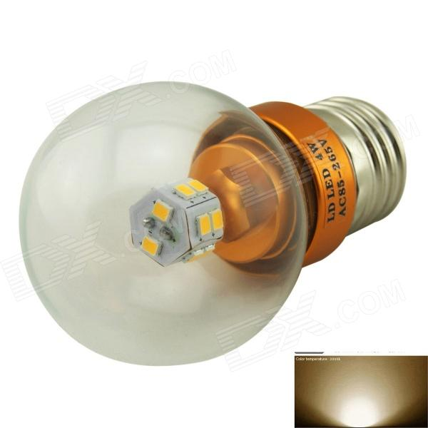 Marsing M-Q008 E27 4W 260lm 3500K 14-SMD 5730 LED Warm White Light Bulb - Silver (AC 85~265V) lexing e14 7w 540lm 14 smd 5730 led warm white light bulb ac 85 265v
