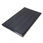 WN-07 3W 6V Solar Powered Panel - Black + Dark Blue (120 x 194mm)