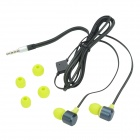 Kipd KD-299 In-Ear Stereo Music Headphones w/ Microphone for IPHONE / IPAD + More - Black + Yellow