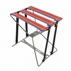 Outdoor Iron + Nylon Folding Chair - Silver + Red + Orange + Purple