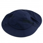 Outdoor Anti UV Folding Large Brimmed Hat - Dark Blue