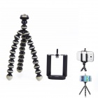 "2-in-1 6.5"" Octopus Tripod for Digital Camera / Phone - Black + Light Grey"