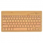 Universal 82-Key Bluetooth Bamboo Keyboard for IPHONE / IPAD / Windows / Android Phone