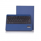 Seenda Bluetooth V3.0 Keyboard Med PU Leather Case for iPad Air - Blå