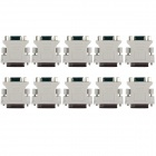 DVI 24 + 5 Male to VGA Female Adapter - White (10 PCS)