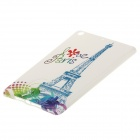 Eiffel Tower Pattern Protective Soft TPU Back Cover Case for IPAD MINI - White + Blue