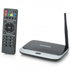 Q7V RK3188 Quad-Core Android 4.4.2 Google TV Player w/ 2GB RAM, 8GB ROM, Remote Controller - Black