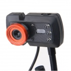 BLUELOVER C800 Drive-Free USB 2.0 Wired 5.0 MP HD Camera w/ Microphone - Black + Red (120cm-Cable)