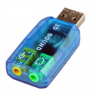 Professional 3D Sound and Virtual 5.1-Surround USB 2.0 External Sound Card (10 PCS)