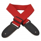 DEDO MA-51 Fashion Polyester Cotton Adjustable Guitar / Bass Strap - Red