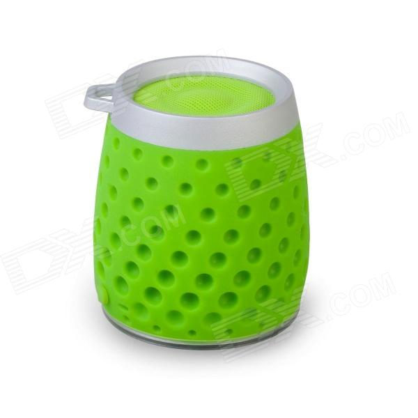 MOCREO MOSOUND Drips Waterproof Portable Wireless Bluetooth Speaker w/ Hanging Ring / TF - Green t050 3w mini portable retractable stereo speaker w tf black golden 16gb max