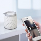 MOCREO MOSOUND Drips Waterproof Portable Wireless Bluetooth Speaker w/ Hanging Ring / TF - White