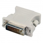 DVI 24+1 Male to VGA Female Adapter - White (10 PCS)