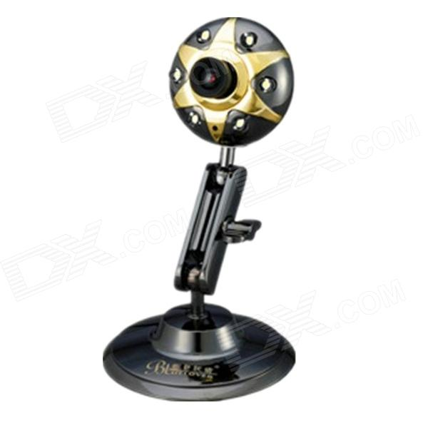 BLUELOVER T616 Free Drive HD Computer Camera with Microphone - Black + Golden