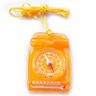 Acecamp 3119 Mini Multi 3-in-1 Compass / Thermonmeter / Whistle - Orange Yellow