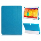 Pandaoo PU Leather Case Cover Stand for Samsung Galaxy Note 10.1 P600 P601 2014 Edition - Blue