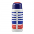 TM-220J Stainless Steel Dual-Layer Vacuum Water Bottle Cup - Blue + Red (220ml)