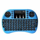 Rii RT-MWK08+ Mini USB 2.0 2.4GHz Wireless 92-Key Touch Keyboard w/ Air Mouse - Blue