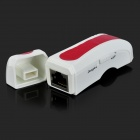 w906 Portable USB 2.0 54Mbps IEEE 802.11b / g Wireless AP + LAN Card - White + Red