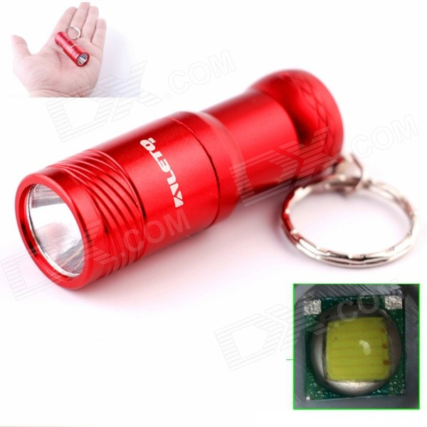 ALETO KL209R 1-LED 274lm 3-Mode White Light Flashlight w/ Keychain - Red (1 x 16340)