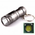 ALETO KL209H Cree XM-L T6 1-LED 690lm 3-Mode White Light Flashlight w/ Keychain - Grey (1 x 16340)