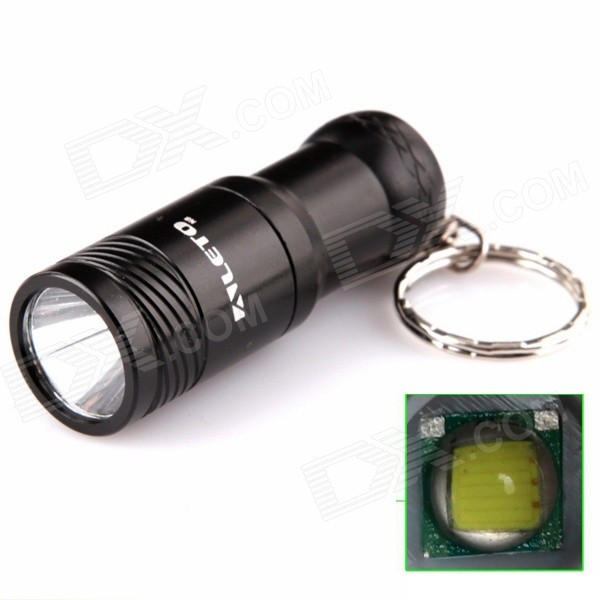 ALETO KL209B 1-LED 690lm 3-Mode White Light Flashlight w/ Keychain - Black (1 x 16340)