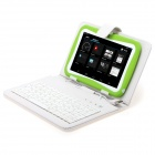 "iRulu AK717 7"" Android 4.0 Tablet PC w/ 512MB RAM, 8GB ROM, Dual-Camera,Keyboard Case for Kids-Green"
