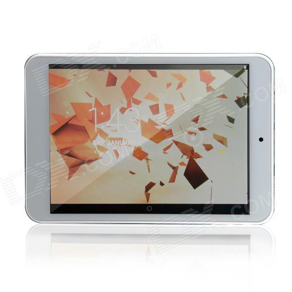 T785 7.85 IPS Quad Core Android 4.2.2 Tablet PC w/ 1GB RAM, 16GB ROM - Silver + White sosoon x88 quad core 8 ips android 4 4 tablet pc w 1gb ram 8gb rom hdmi gps bluetooth white