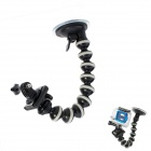 JUSTONE Octopus Monopod Suction Cup Mount Holder for GoPro Hero 3 / 2 / 1 - Black + Gray