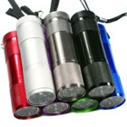 9 White LED Flashlight (Multicolored 7-pack)