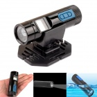 PANNOVO Waterproof HD 720P Mini Sports DV DVR Video Recorder Helmet Torch Camera w/ Flashlight