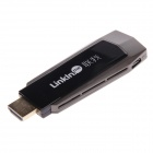 LinkIn mig trådlös Wi-Fi Miracast DLNA Airplay TV HDMI-Dongle Adapter - svart + ljusbrun