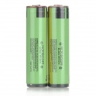 PANASONIC 3.7V 2900mAh Rechargeable Li-ion NCR18650PF Battery - Green + Black (2 PCS)