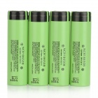 PANASONIC 3.7V 3250mAh Li-ion Rechargeable 18650 Batteries - Green + Black (4 PCS)