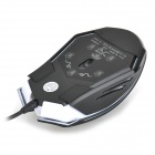 RAJFOO USB 2.0 Wired 800-1200-1600dpi LED Mouse - Black + White