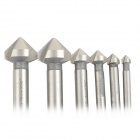 6-in-1 High Speed Steel Chamfering Cutter Set - Silver (6 PCS)