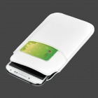 Stylish Protective PU Pouch Case w/ Card Slot for Samsung S4 / S5 - White