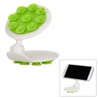 007 Rotary Double-Side Suction Cup Car Mount Holder - White + Green