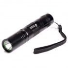 S5-XPE Cree XP-E Q5 1-LED 180lm 5-Mode White Light Flashlight w/ Strap - Black (1 x 18650)