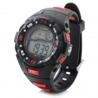 Lasika Men's Waterproof Rubber Band Quartz LED Digital Sport Wrist Watch w/ Sub-dial (1 x CR2025)