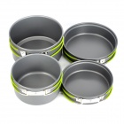 Multi-Function Outdoor Camping Portable Koken Pan Pot + + Bowl Set voor 2 ~ 3 Person - Grijs