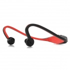Sports Wireless Behind-the-Neck MP3 Headphone w/ TF / FM / USB - Black + Red